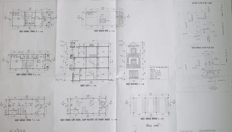 Các bản vẽ thiết kế là một phần bắt buộc phải có trong hồ sơ xin cấp giấy phép xây dựng.