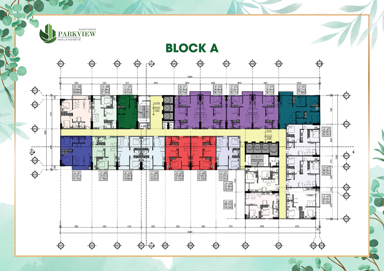 Mặt bằng dự án Parkview Apartment Block A