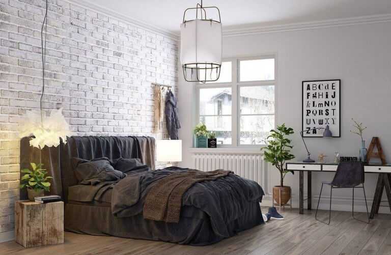 Trắng, nâu nhạt và ghi xám là 3 tông màu chủ đạo của nội thất phong cách Loft.