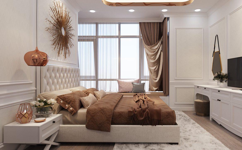 Phòng ngủ Master nhà mẫu dự án căn hộ Astral City Thuận An