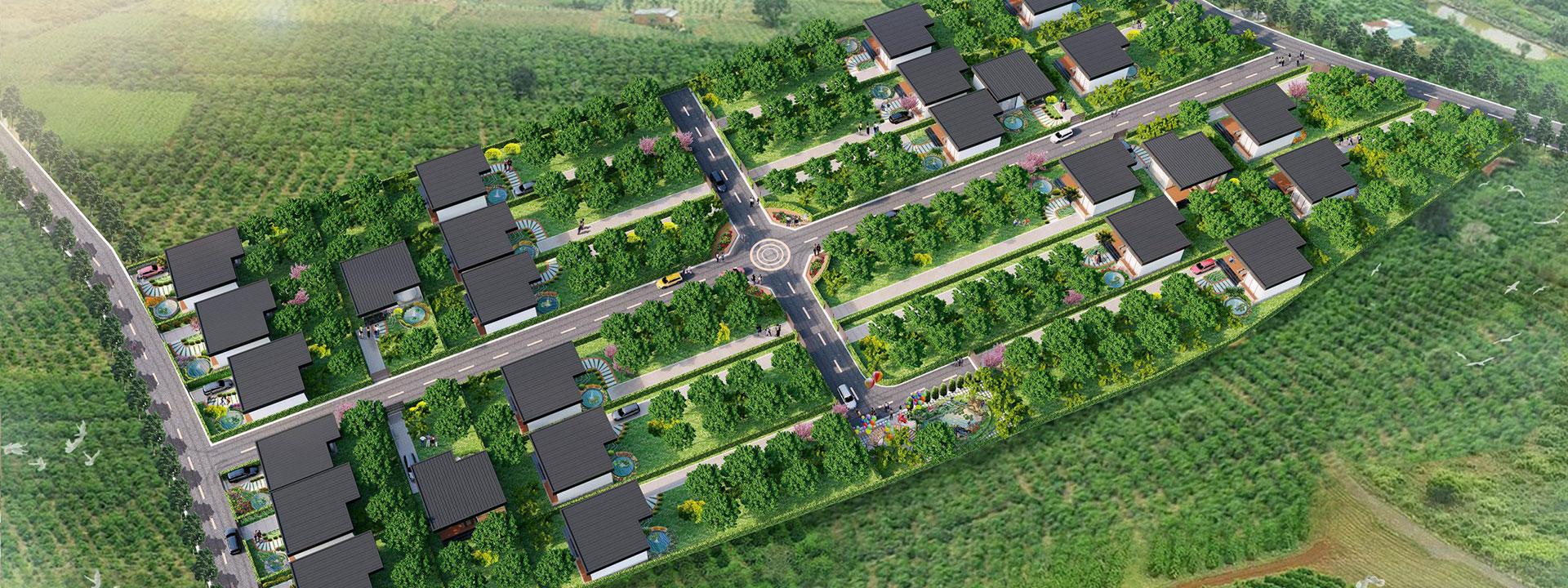 Phối cảnh dự án The Green Farmhouses