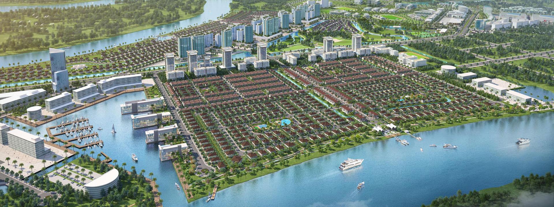Khu đô thị Waterpoint tọa lạc tại tỉnh Lộ 830, huyện Bến Lức, Long An. Quy mô lên đến 355h