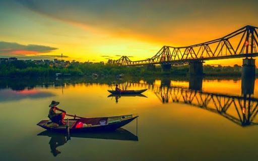 Sông Hồng đẹp đến ngỡ ngàng trong ống kính nhiếp ảnh gia.