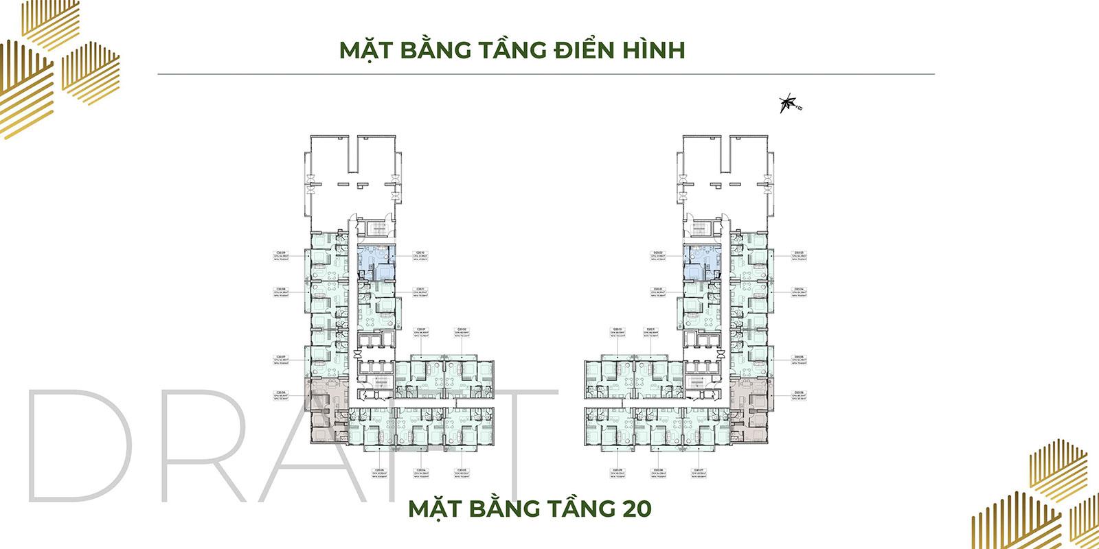 Mặt bằng dự án căn hộ Anderson Park tầng 20