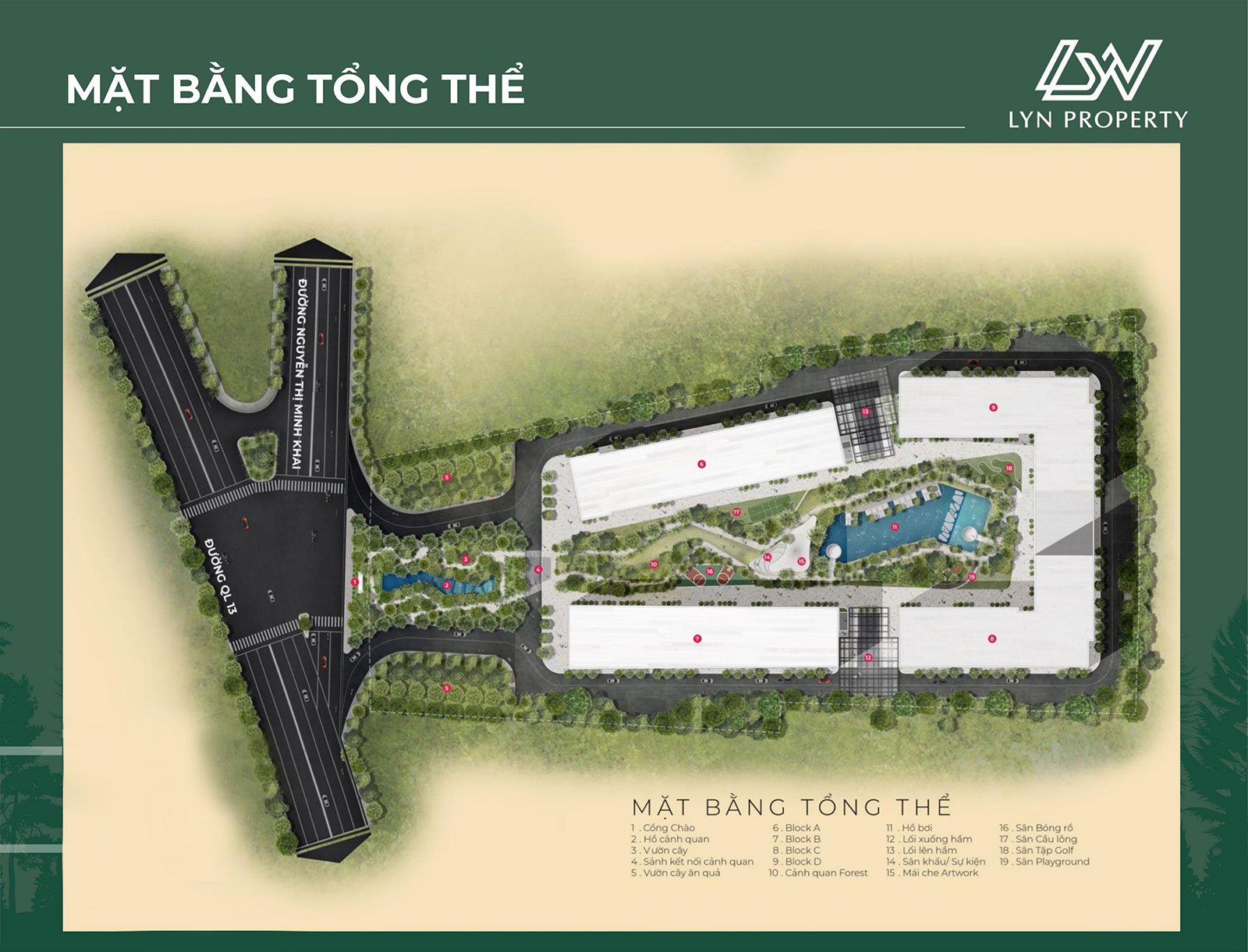 Mặt bằng tổng thể dự án Anderson Park