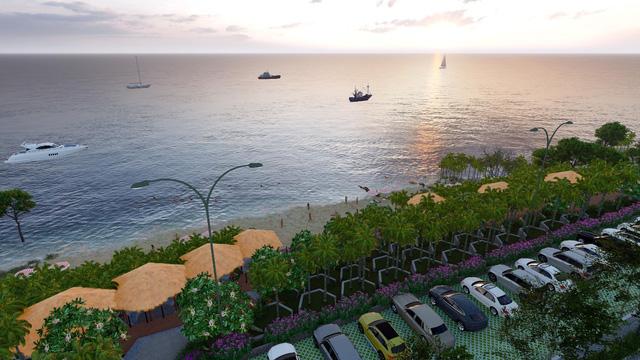 Phối cảnh bãi biển riêng tại dự án Apec Mandala Wyndham Mũi Né