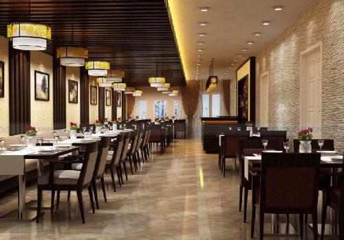 Nhà hàng, quán ăn nên sử dụng gam màu ấm nóng để kích hoạt hành Hỏa. Ảnh minh họa