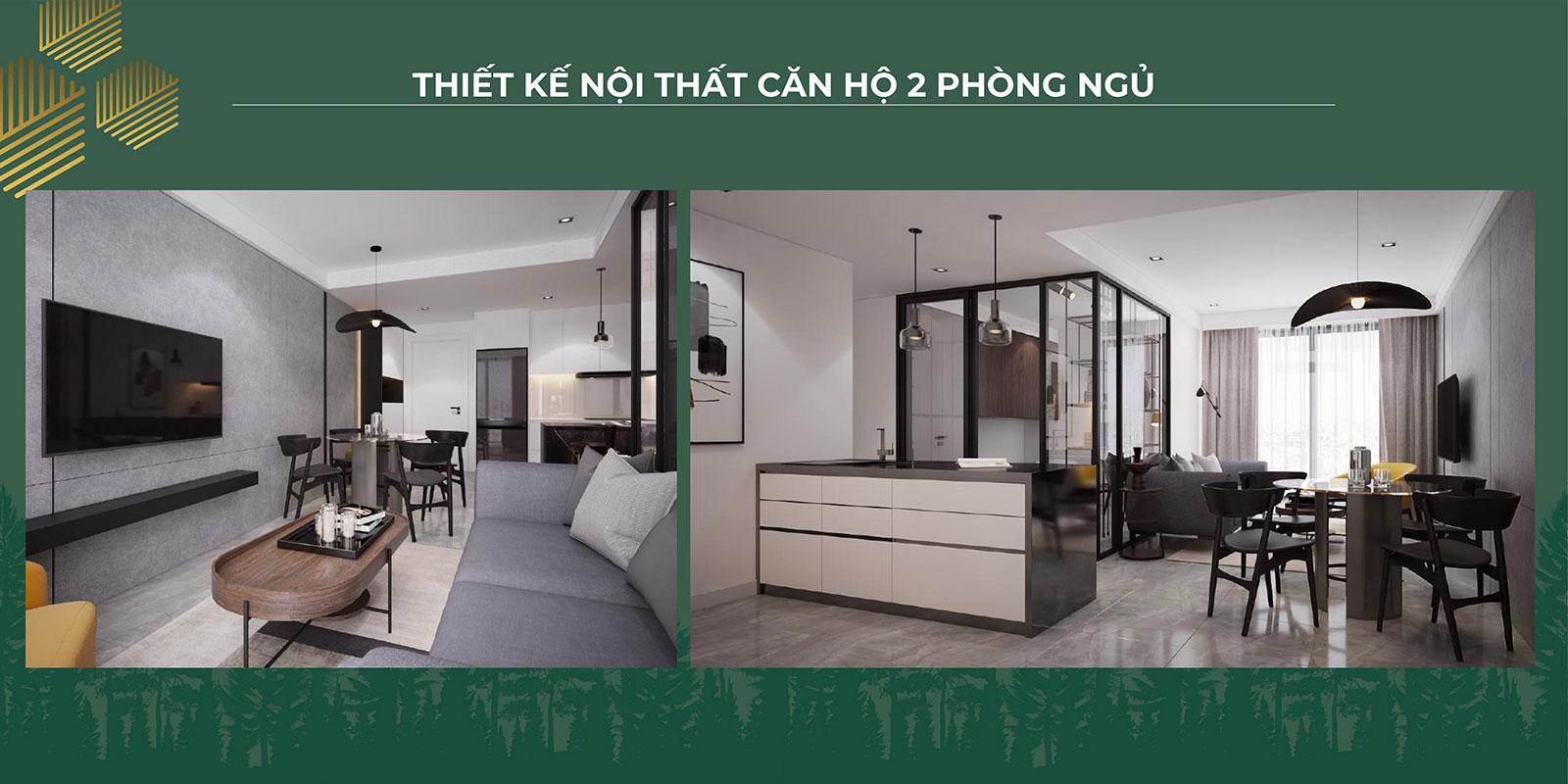 Thiết kế nội thất căn hộ 2PN 01