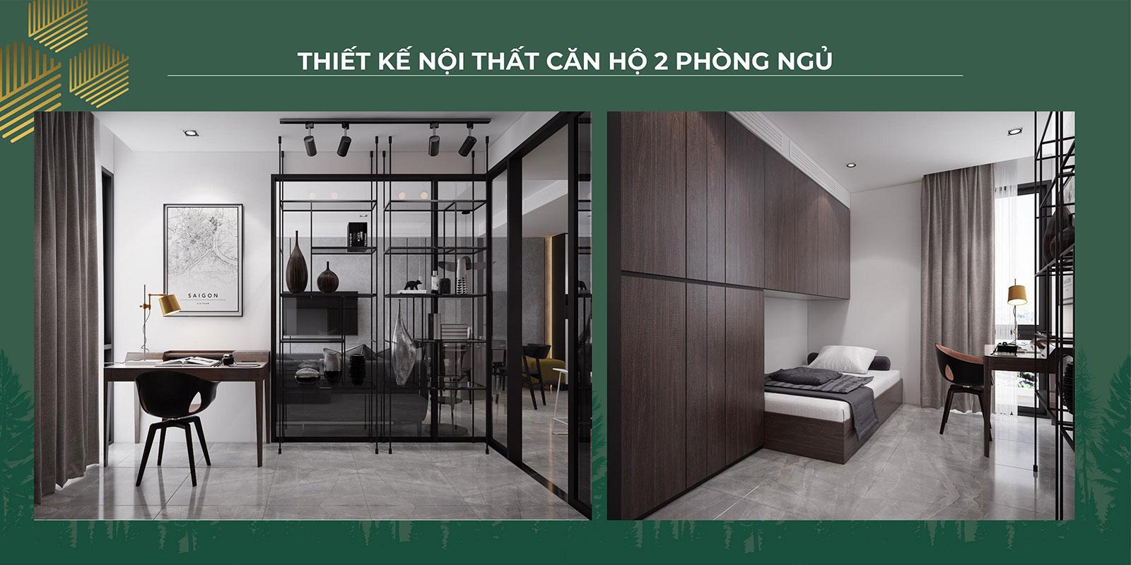 Thiết kế nội thất căn hộ 2PN 03