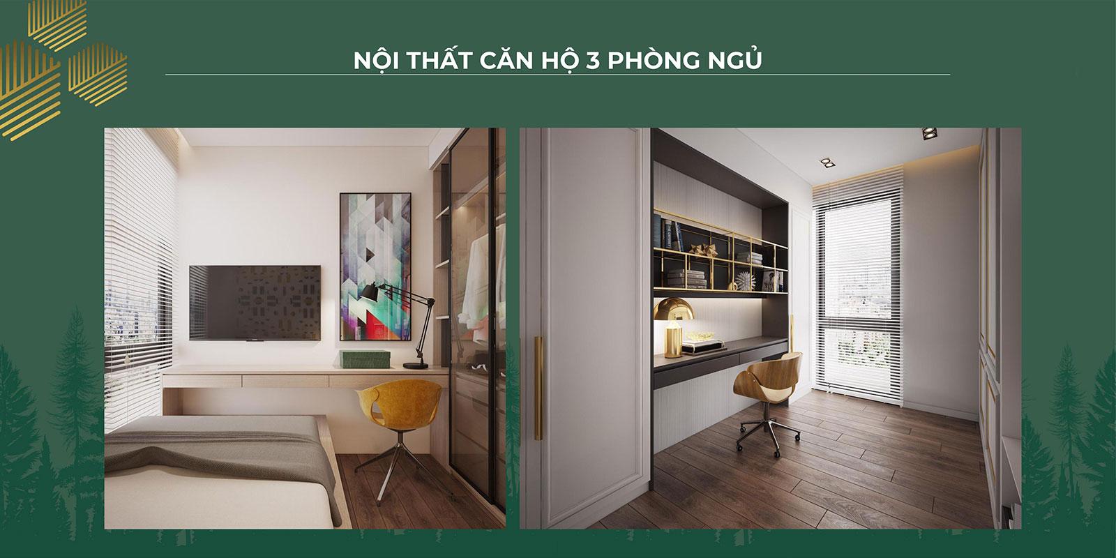 Thiết kế nội thất căn hộ 3PN 01