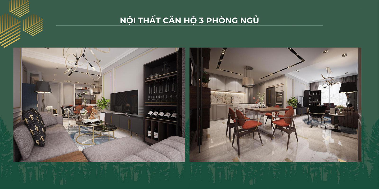 Thiết kế nội thất căn hộ 3PN 04