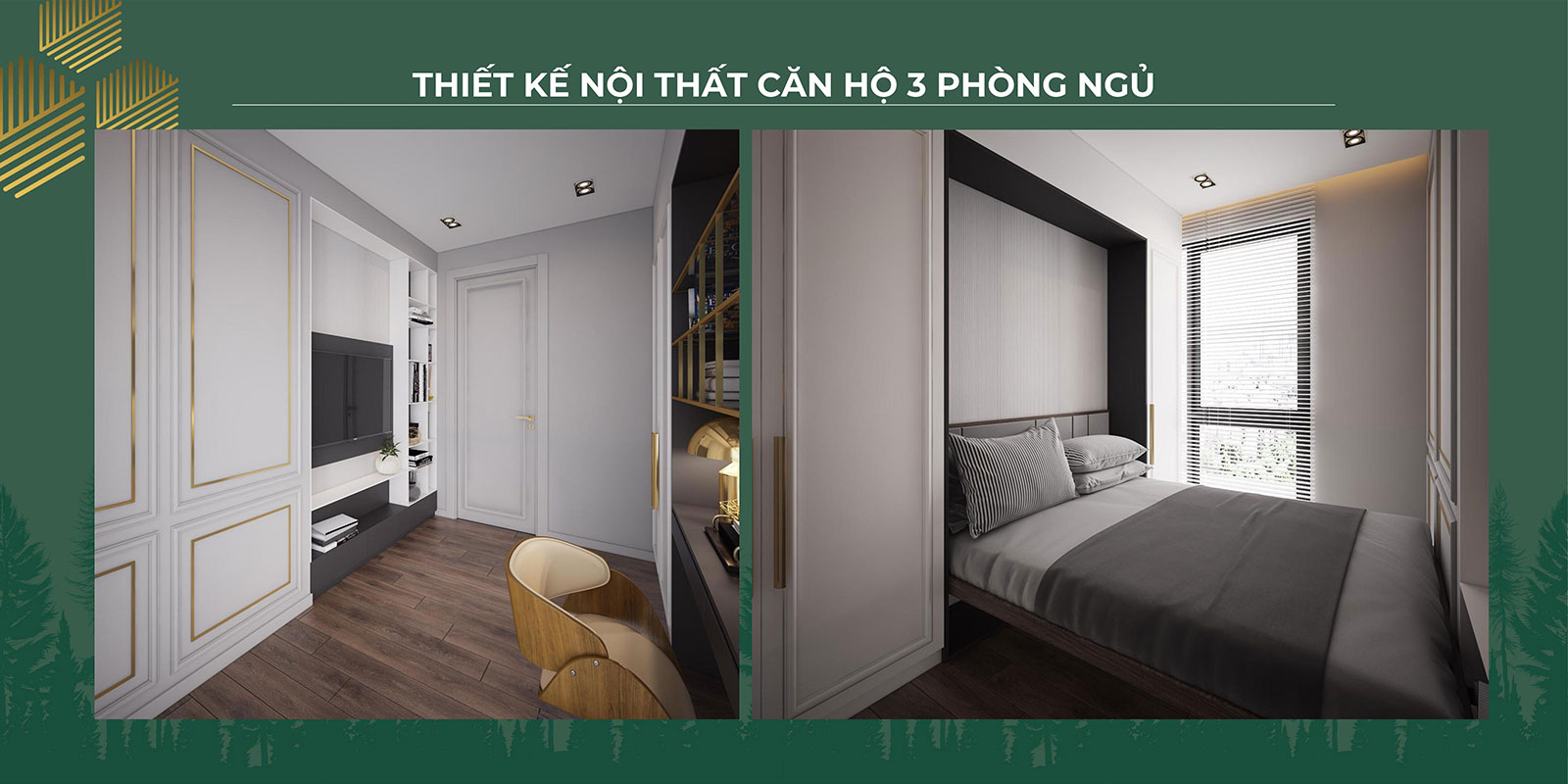 Thiết kế nội thất căn hộ 3PN