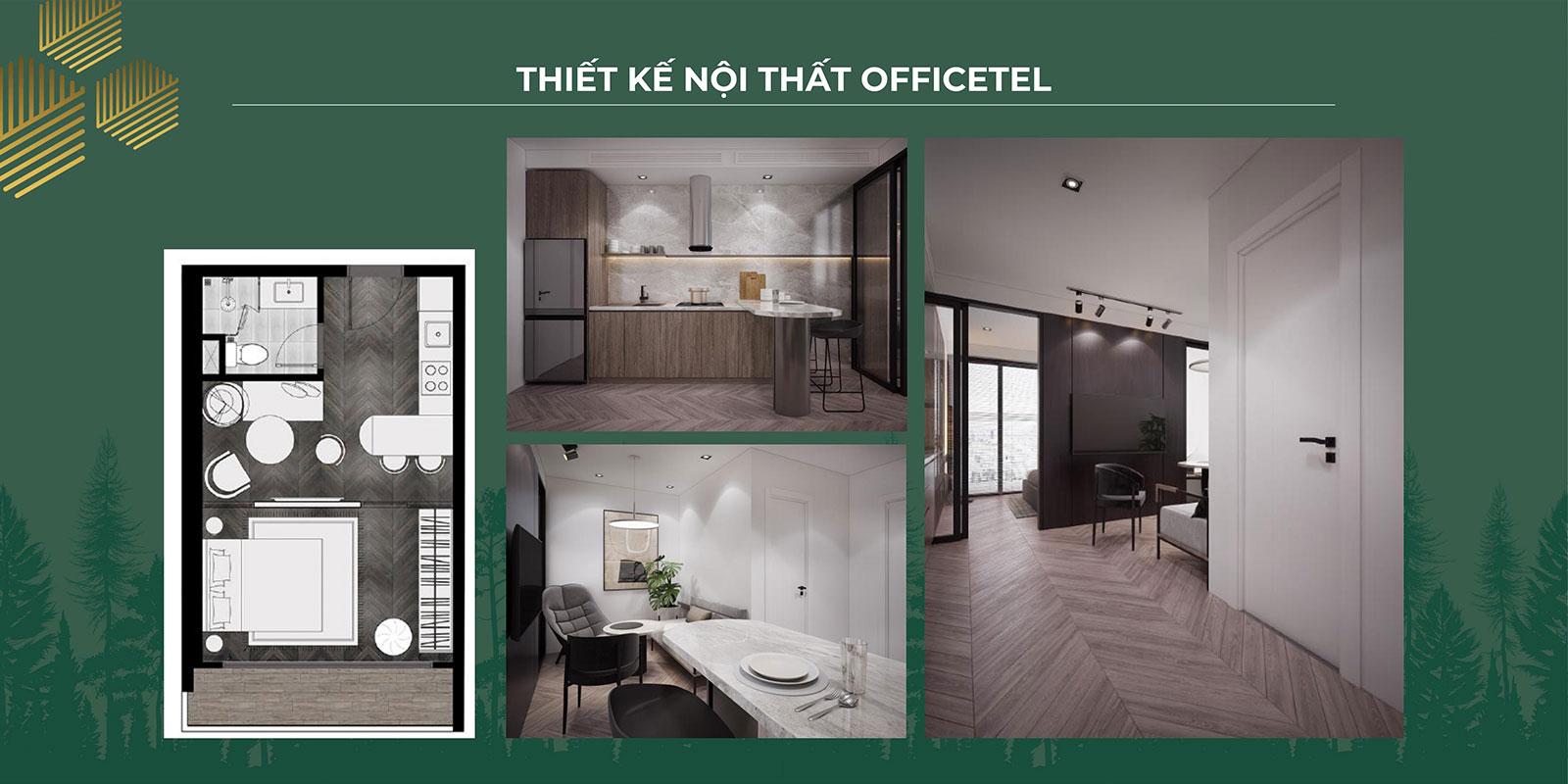 Thiết kế nội thất Officetel