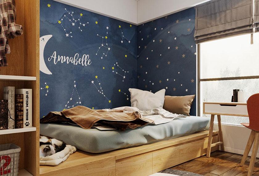 Mẫu phòng ngủ sử dụng nội thất thông minh, đa năng.
