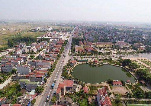 Khu vực quy hoạch đô thị Phố Mới và phụ cận có diện tích 15.511ha