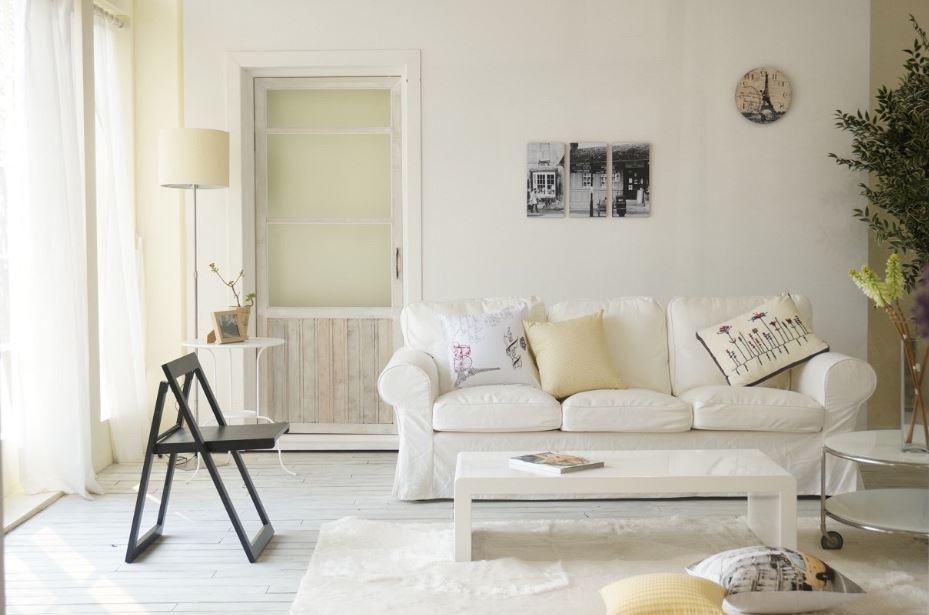 Phòng khách phong cách Hàn Quốc chuộng sofa và các gam màu nhẹ