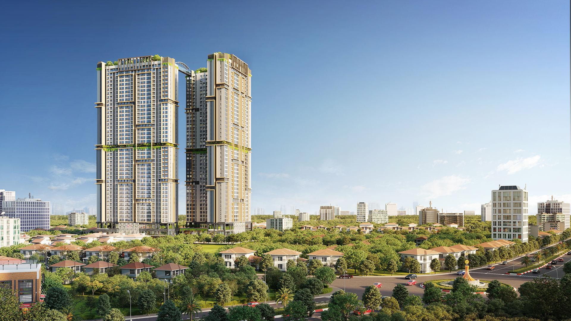 Phối cảnh dự án căn hộ cao cấp Happy One - Central.