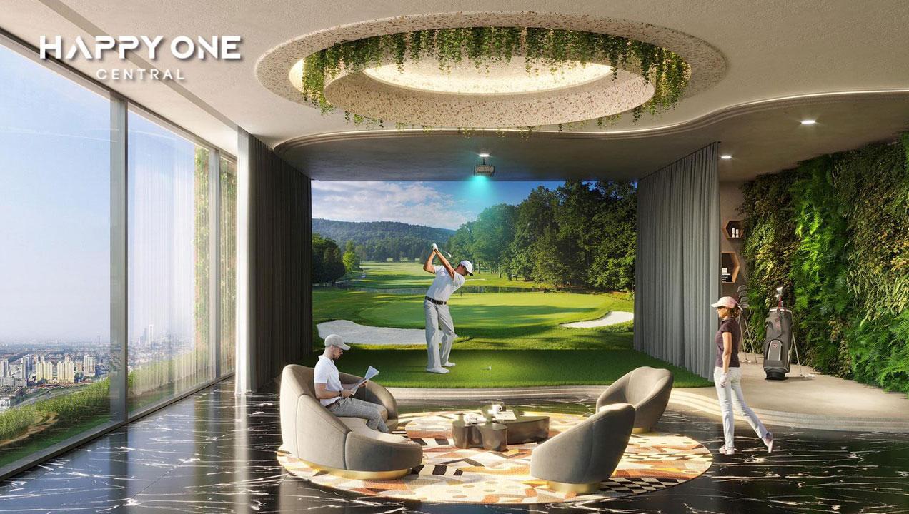 Tiện ích phòng Golf 3D của Khu phức hợp căn hộ cao cấp Happy One – Central