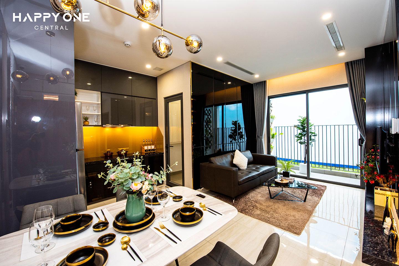 Phòng khách nhà mẫu 1PN HOC 01