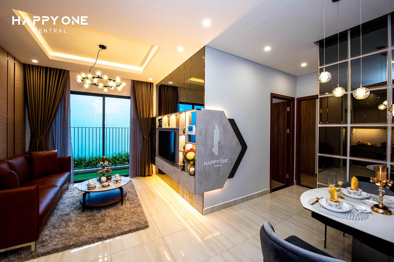 Phòng khách nhà mẫu 2PN HOC 02