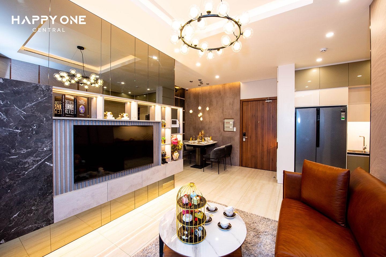 Phòng khách nhà mẫu 2PN HOC 01