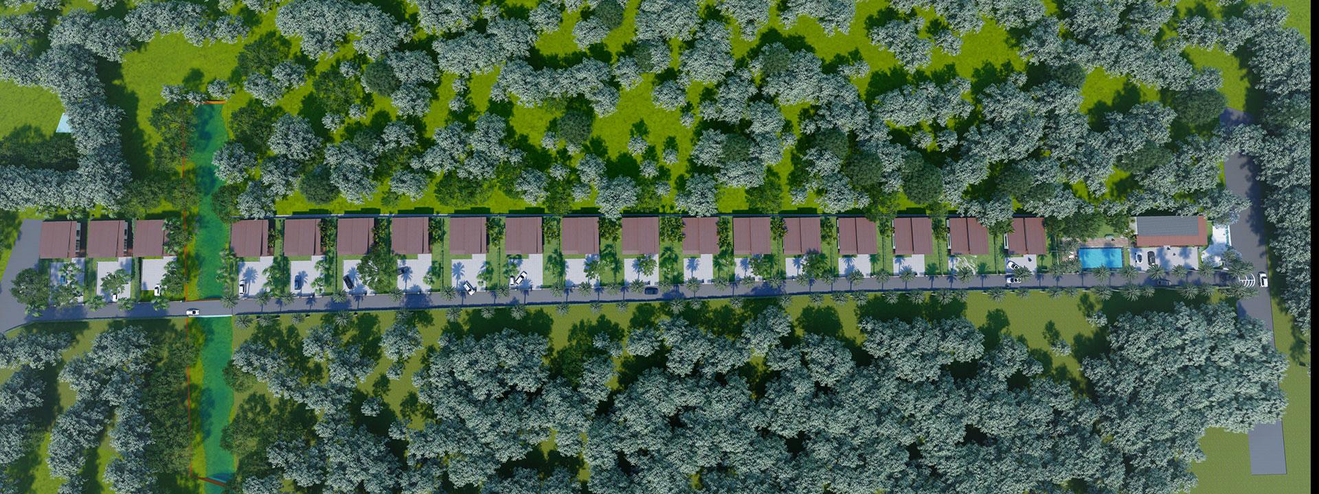 Phối cảnh nhà vườn nghỉ dưỡng Lộc An Sandy Homes