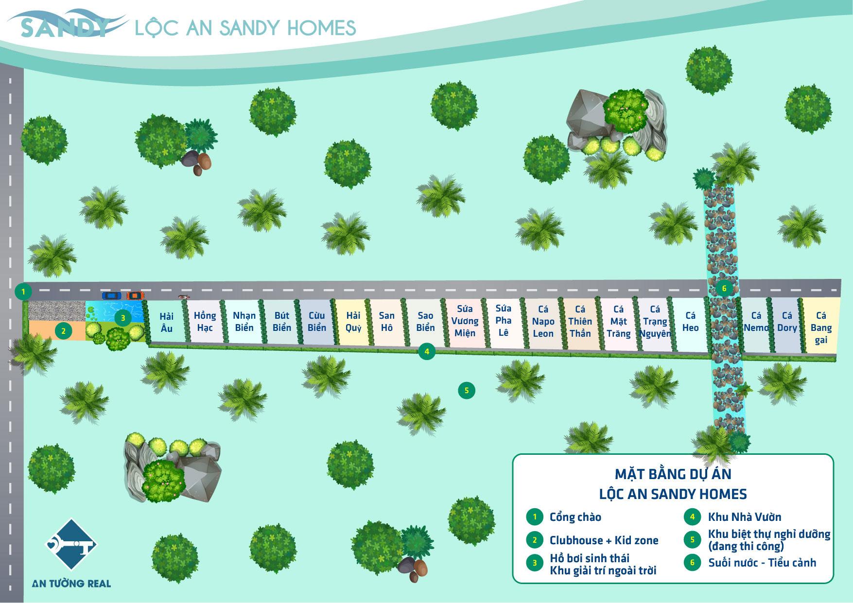Mặt bằng tổng Lộc An Sandy Home 01 2021