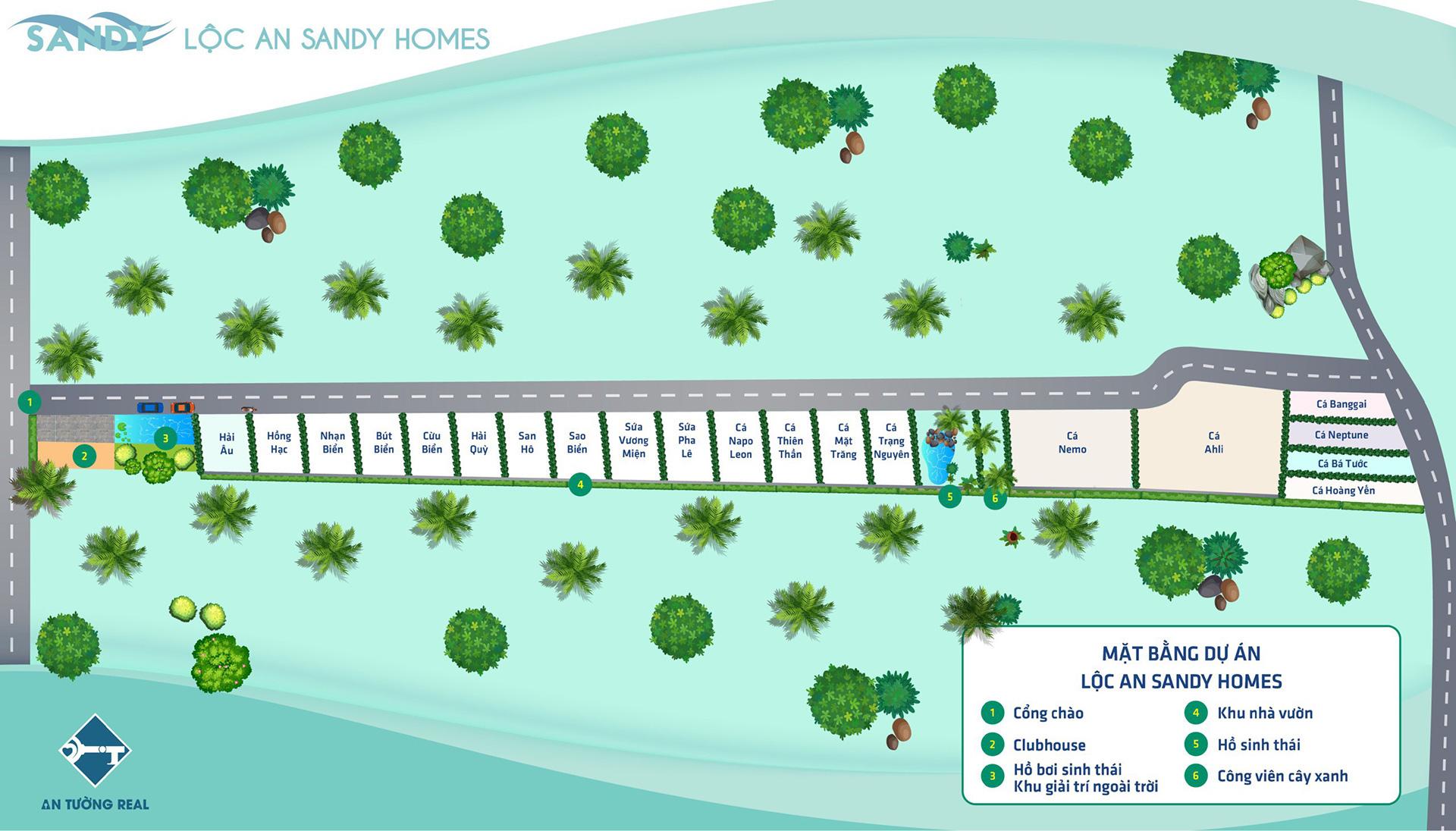 Mặt bằng tổng Lộc An Sandy Homes 24-06-2021