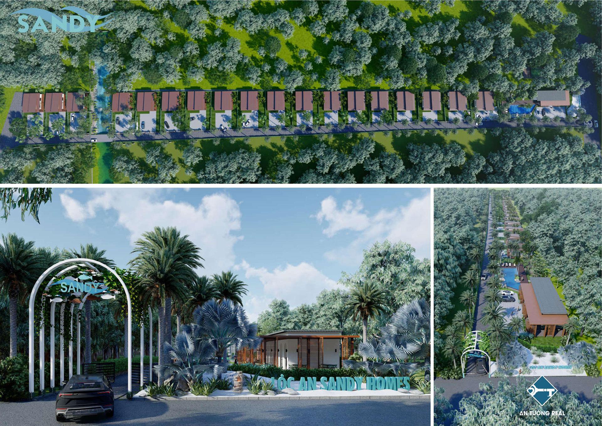 Phối cảnh dự án Lộc An Sandy Homes 01