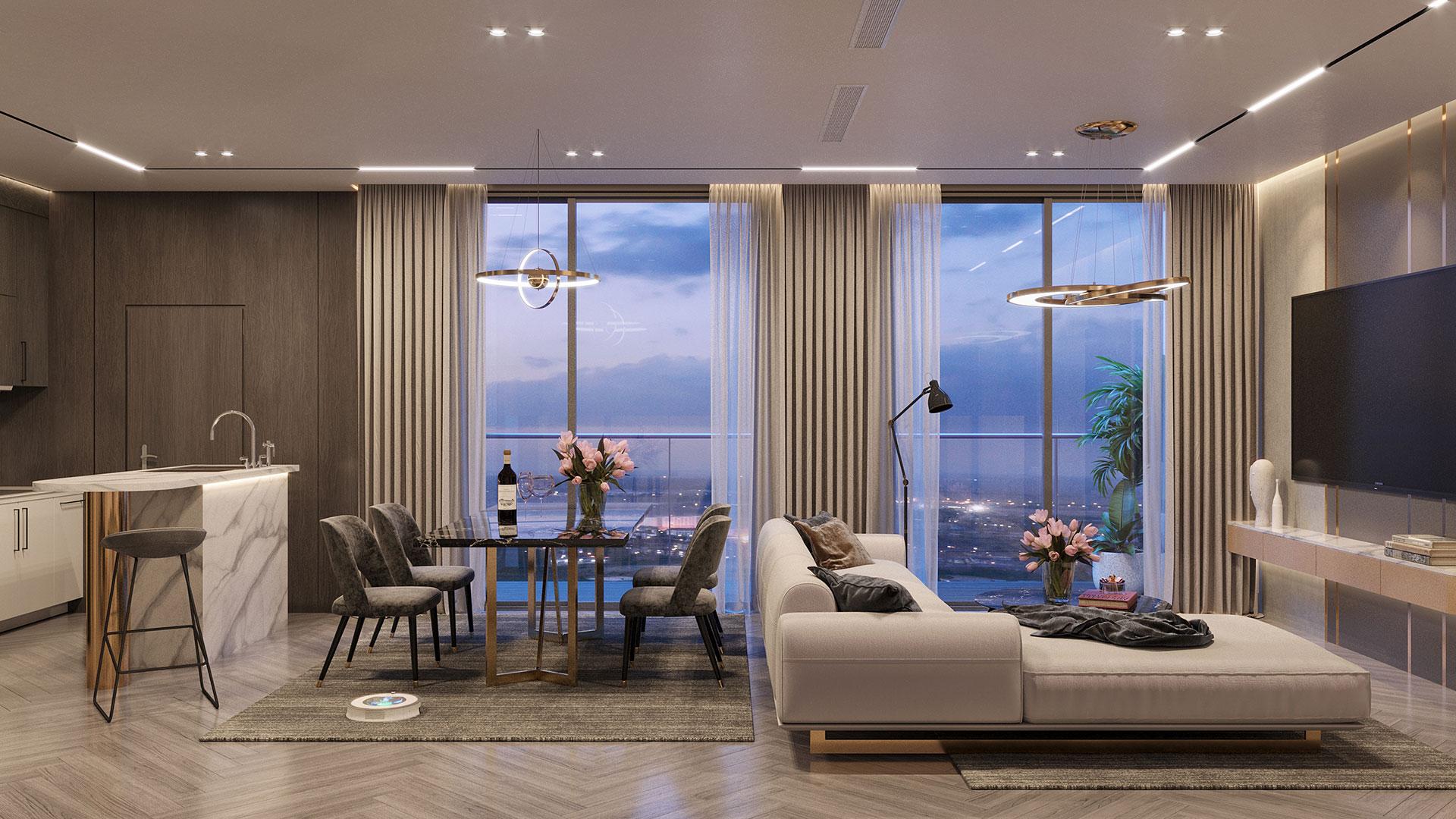 Thiết kế căn hộ Happy One Central hiện đại - sang trọng