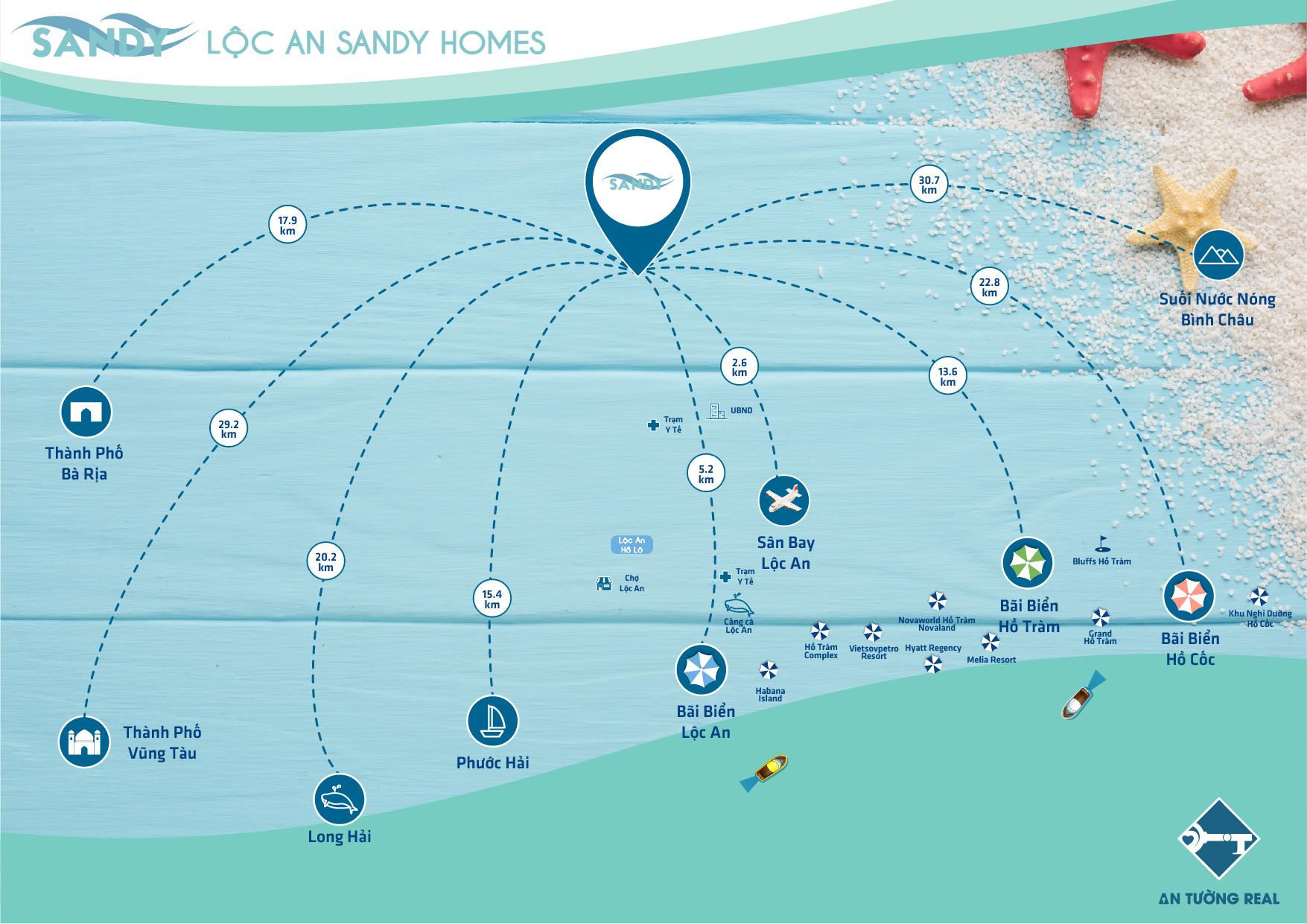 Tiện ích ngoại khu Lộc An Sandy Homes