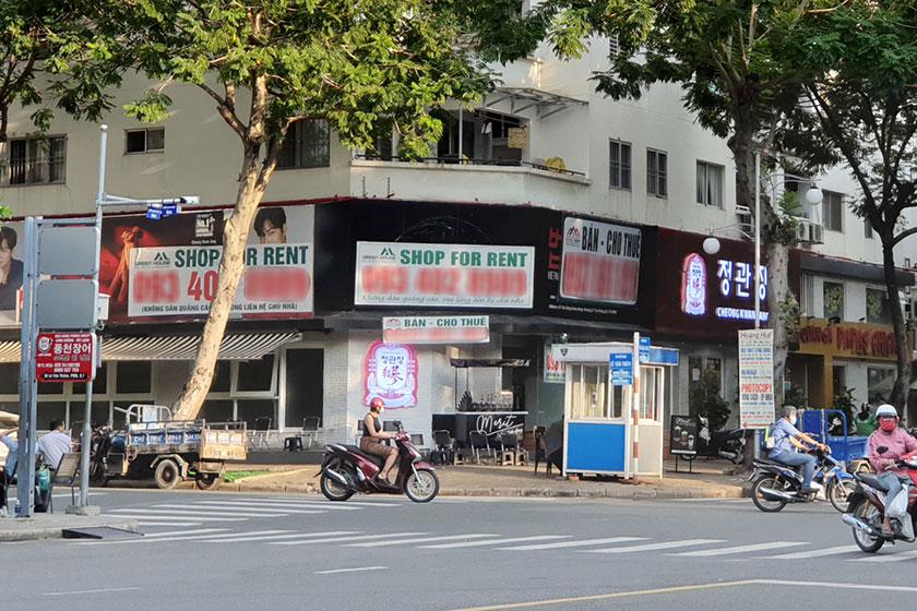 Mặt bằng bán lẻ tại phố Hàn Quốc quận 7, thuộc khu đô thị Phú Mỹ Hưng vào quý IV/2020. Ảnh: Vũ Lê.