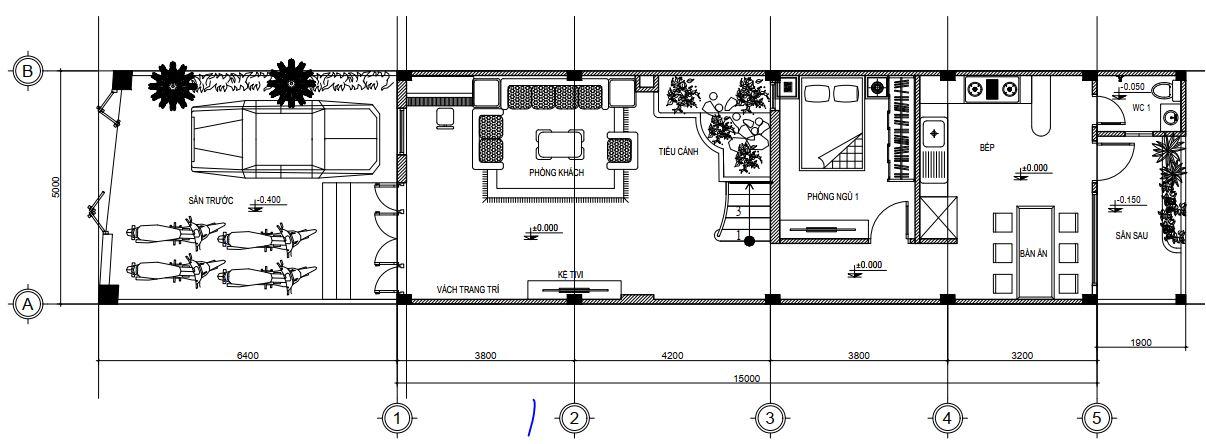 Tư vấn thiết kế nhà mái Thái 5x25m2 01