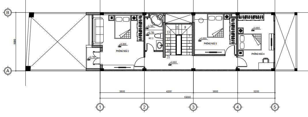 Tư vấn thiết kế nhà mái Thái 5x25m2