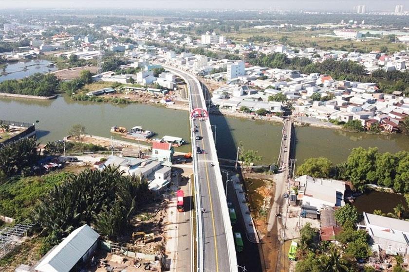 Cầu Phước Lộc mới, huyện Nhà Bè, TP.HCM (Ảnh: Laodong.vn)