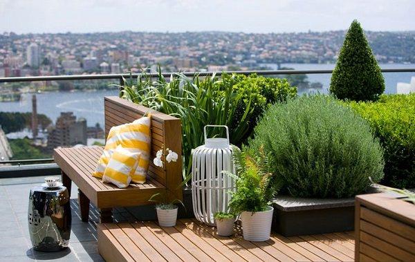 Trước khi thiết kế khu vườn trên sân thượng, gia chủ cần khảo sát hiện trạng sân thượng về điều kiện ánh sáng, sức gió, nhiệt độ...