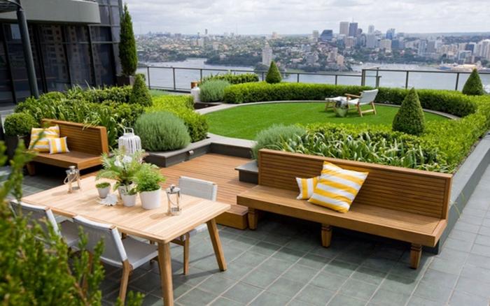Thiết kế vườn sân thượng cần đảm bảo sự cân bằng, hài hòa về âm - dương cho ngôi nhà để thu hút may mắn, tài lộc đến với gia chủ.