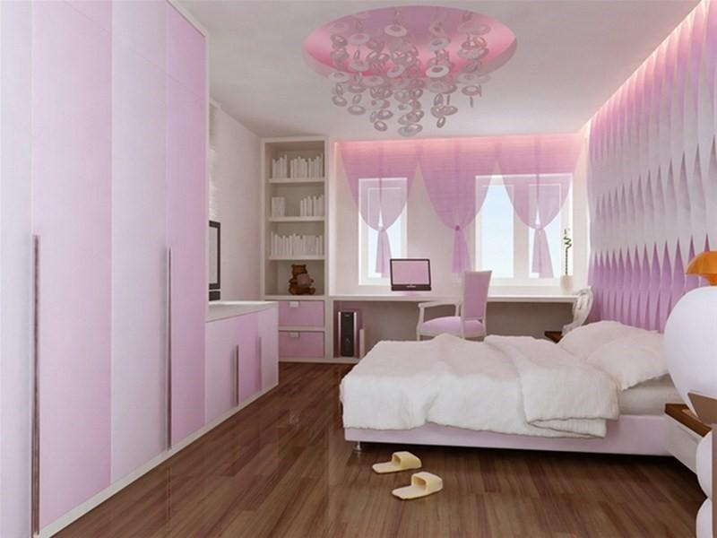 Không gian riêng tiện nghi, thiết kế trẻ trung, lãng mạn dành cho cô con gái.