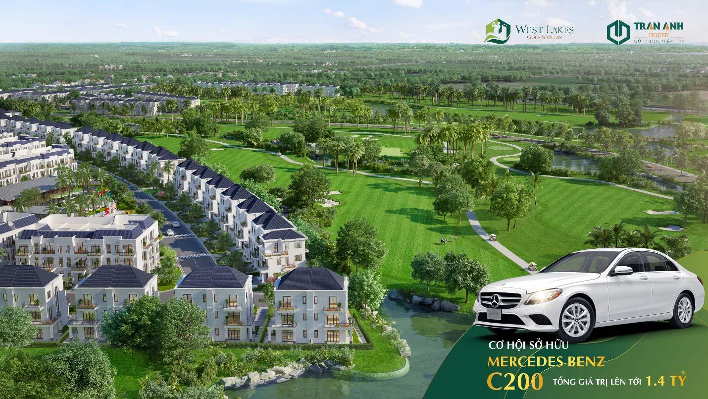 Sở hữu biệt thự West Lakes Golf & Villas khách hàng có cơ hội sở hữu 01 xe Mercedes C200