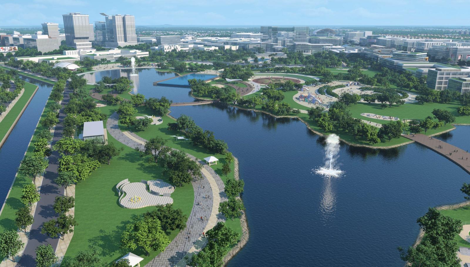 Công viên Thành phố mới Bình Dương nhìn từ trên cao