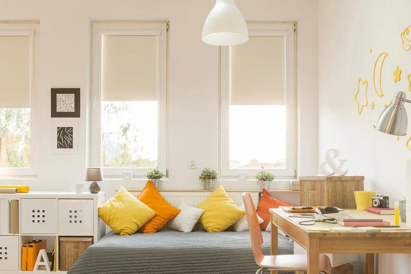 Màu sơn sáng giúp nhà dễ chịu hơn.