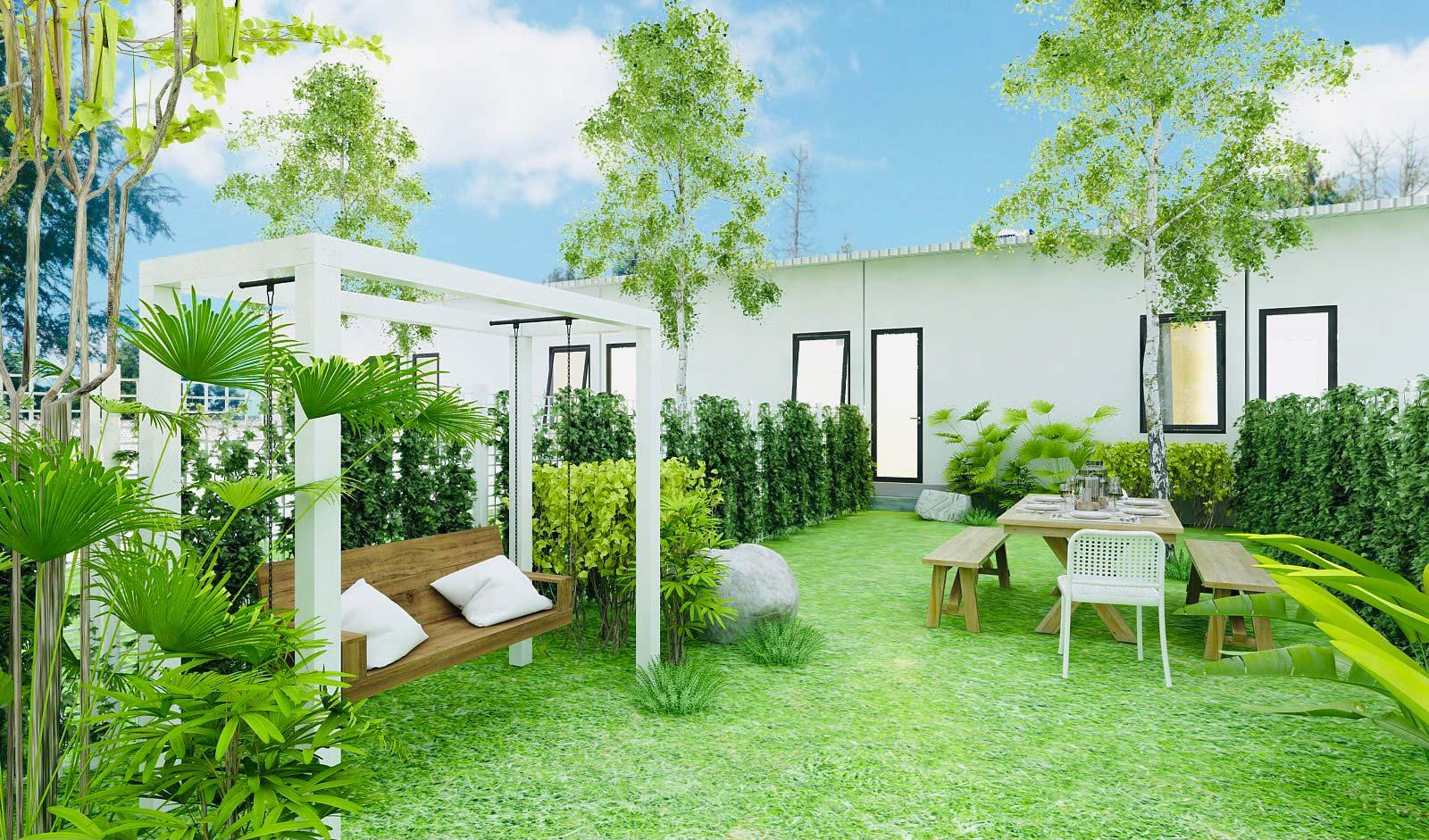 Hình ảnh phối cảnh nhà phố vườn Lộc An Airhomes