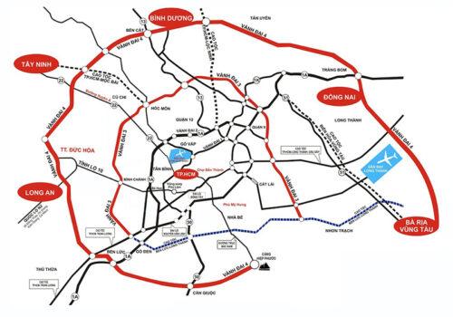 Bản đồ dự án đBản đồ dự án đường Vành Đai 4 ường Vành Đai 4