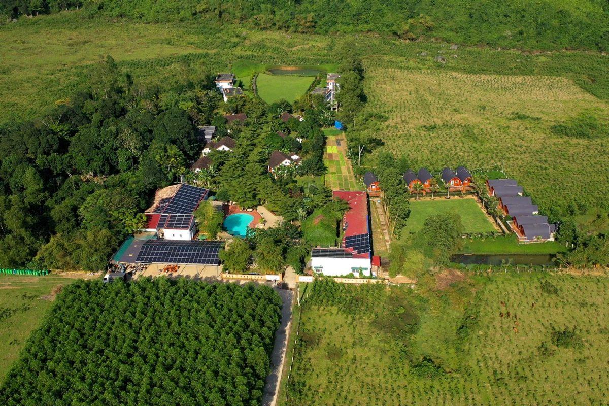 Đất nhà vườn được chia thành hai phần là đất thổ cư và đất vườn