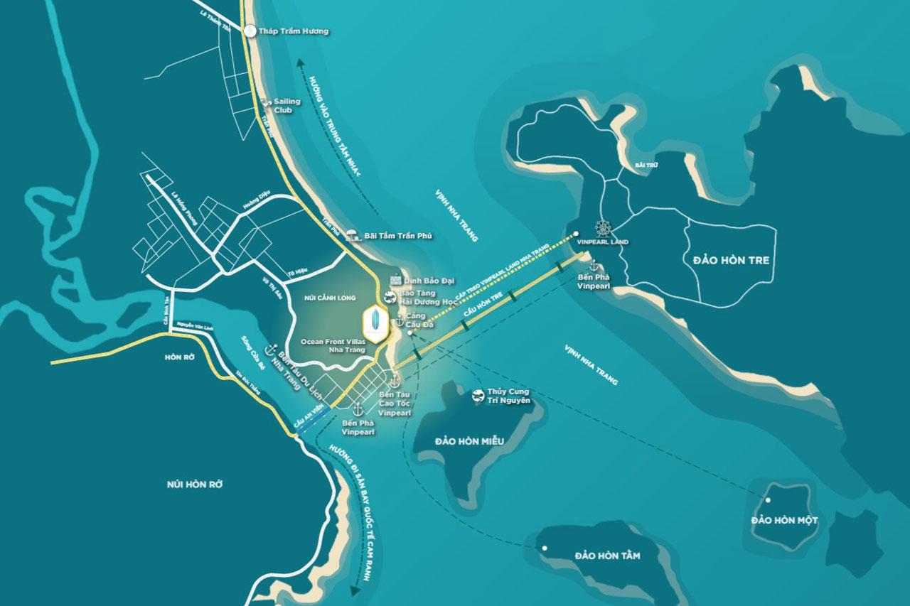 Vị trí dự án ANCruising Nha Trang