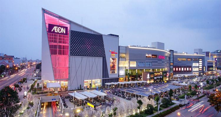 AEON Mall Bình Dương có diện tích hơn 70.000m2.